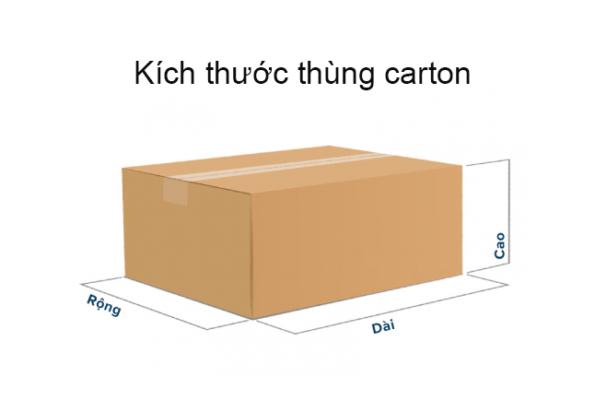 Kích thước thùng giấy carton