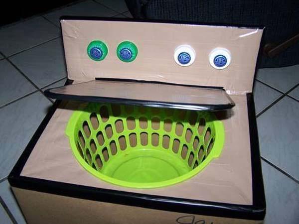 Máy giặt làm từ thùng giấy