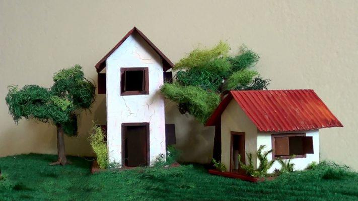 Cách làm nhà bằng giấy đơn giản, độc đáo