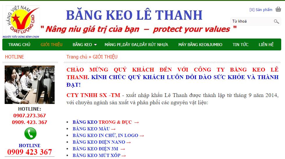 băng keo Lê Thanh