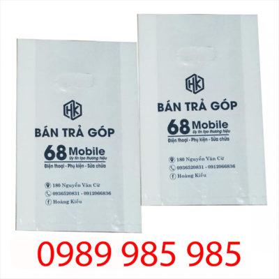 khách hàng 68 Mobile đặt Vietbox in túi ni lông giá rẻ chất lượng cao
