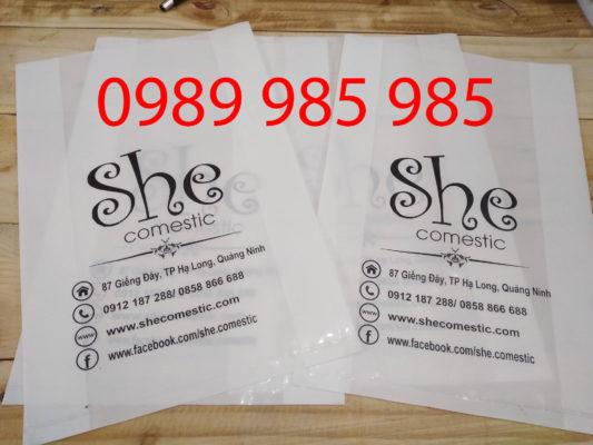 She Comestic là khách hàng đặc biệt của Vietbox trong việc in túi ni lông số lượng lớn