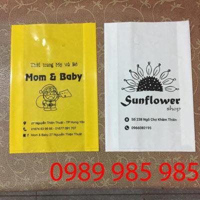 Mom & Bayby và Sunflower Shop là một trong vô số shop đã liên hệ với vietbox để in túi ni lông đẹp