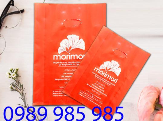 Morimori - một brand lớn tại Hà Nội cũng đang sử dụng túi nilon tại Vietbox