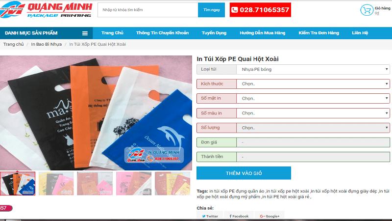 túi hột xoài giá rẻ tại Quang Minh