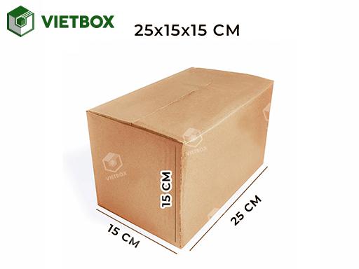 Hộp carton 25x15x15