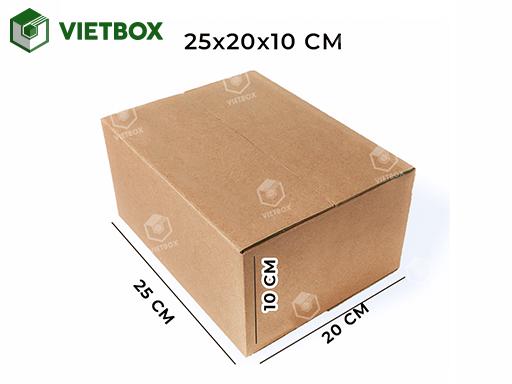Hộp carton 25x20x10