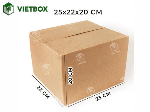 Hộp carton 25x22x20