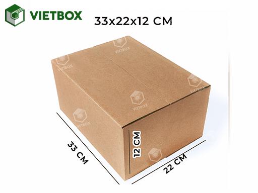Hộp carton 33x22x12