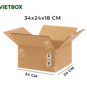 Hộp carton 34x24x18