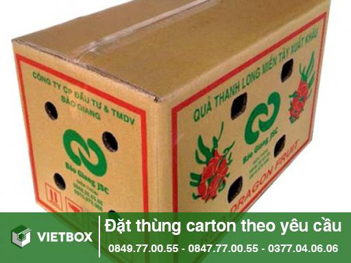 thùng carton đựng thanh long
