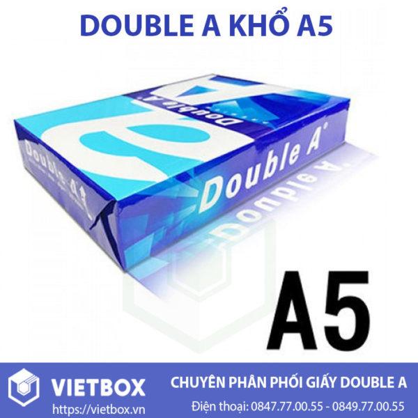 Giấy Double A A5